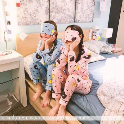 sleep, kawaii, pyjamas, sleepwear, sleep, comfort, pink, blue, cute, lovely, green
