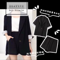 black, blazer, korean, outfit, style, set, outer, chiffon, cool, pretty, line, korean, kawaii, cute, couple, sisters, yellow, white, brown, cony, sally, kakao, cute, pretty, simple, musthave, 2019, outer, knitwear, jacket